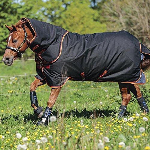 Horseware Amigo Quarter Horse Plus Turnout Medium 400g - Black/Orange, Größe:72 (135)