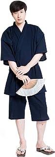 甚平 メンズ パジャマ 日本製 おしゃれ やわらか 久留米 しじら織 綿 六花 ROCCA