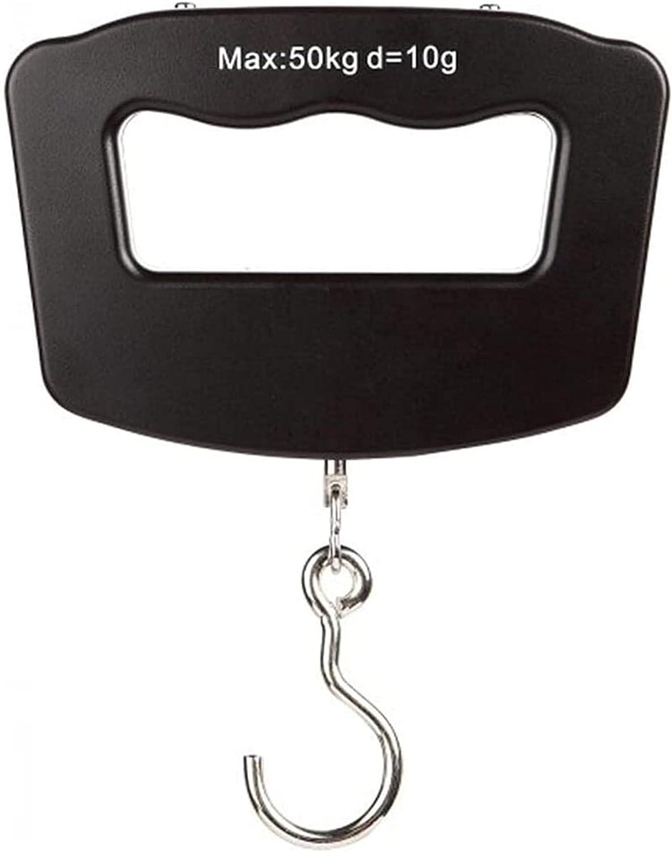 Báscula de equipaje digital, báscula de viaje electrónica de pesaje colgante con gancho, báscula de equipaje con pantalla LED y función de retención de datos Básculas colgantes de estilo portátil