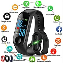 Intelligent Smart Band Fitness Tracker Watch Heart Rate with Activity Tracker Waterproof Body Functions Like Steps Counter, Calorie Counter, Blood Pressure, Heart Rate Monitor OLED Touchscreen