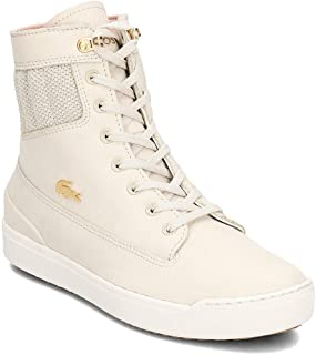 Lacoste Womens Explorateur Hi Trainers Sneakers in Natural/Off White.