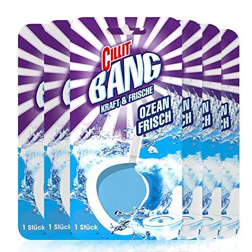 Cillit Bang Kraft und Frische WC-Spüler Ozean-Frisch, 6er Pack (6 x 40 g)