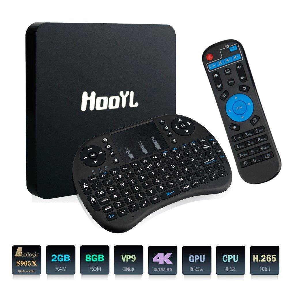 Smart Android TV BOX HDMI Android 6.0 TV 4K 2 GB RAM y 8 GB ROM Streaming Media Player WiFi-Box [Mini teclado sin hilos cobrar por 2 Plis AAA]: Amazon.es: Electrónica