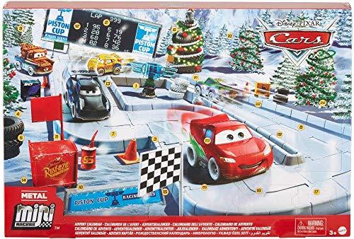 Disney Cars- Calendario dell'Avvento Una Macchinina al Giorno con Accessori e Sorprese Giocattolo...