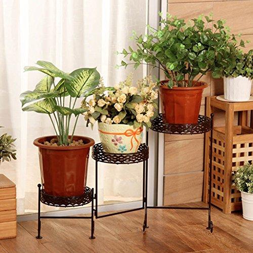 Plateau Rack/Iron Art Disc Display Stand/Multi - Store Intérieur Cadre de fleurs en plein air/balcon Cadre en métal décoratif (Couleur : Marron)