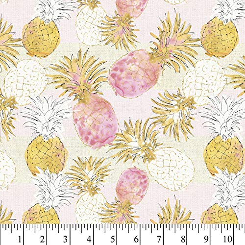 Pineapple Paradise Cotton Fabric by The Yard