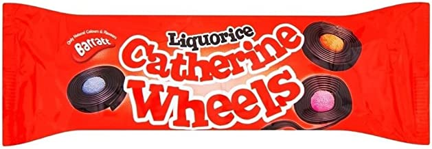 Barratt Liquorice Catherine Wheels (113g) - Pack of 2