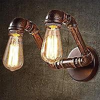装飾的な照明の壁ランプ 明るい LEDナイトライト 照明産業の壁取り付け用燭台水パイプダブルヘッド壁ランプ、レストランリビングルームのベッドルームのための照明器具航海スタイル