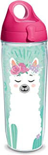 Tervis 1330757 Llama Flora Insulated Tumbler with Wrap and Fuchsia Travel Lid, 16 oz - Tritan, Clear 24 oz Water Bottle - ...