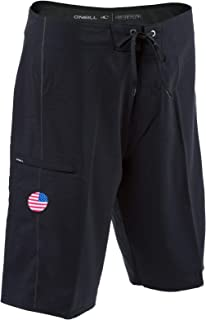 GI Jack Patriotic Hyperfreak Boardshorts With American Flag Patch