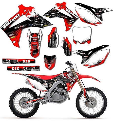 Team Racing Graphics kit compatible with Honda 1997-1999 CR 250R, SCATTER