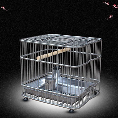 Volière Liuyu · Maison de la Vie Cage de Bain en Acier Inoxydable Perroquet Starling Birdcage (Size : Trumpet 27 * 13 * 20cm)