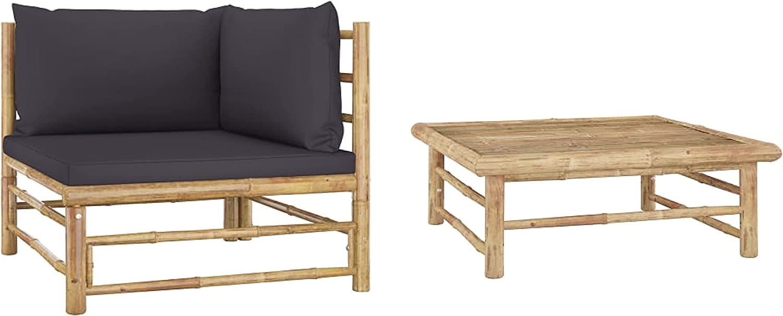 KA Company Outdoor Furniture Set, 2 Piece Garden Lounge Set wit