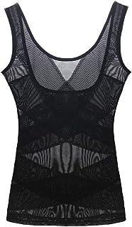 ملابس داخلية نسائية مقاس إضافي لتنحيف الخصر للنساء مع حزام تخسيس ملابس داخلية لتشكيل الجسم (اللون: أسود، المقاس: M (40 45 ...