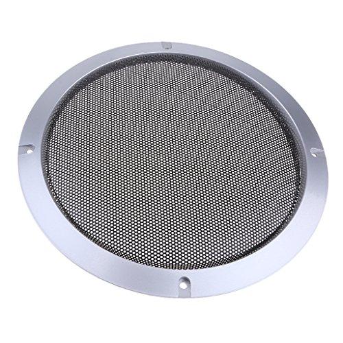 Baoblaze Metall Silber Auto Audio Lautsprecher Subwoofer Schutzgitter Abdeckung, 4 Zoll / 5 Zoll / 6,5 Zoll / 8 Zoll / 10 Zoll - 8-Zoll