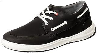 حذاء جلد نوباك صناعي برباط وعراوي مختلفة اللون بخياطة امامية للرجال من زيرو 3
