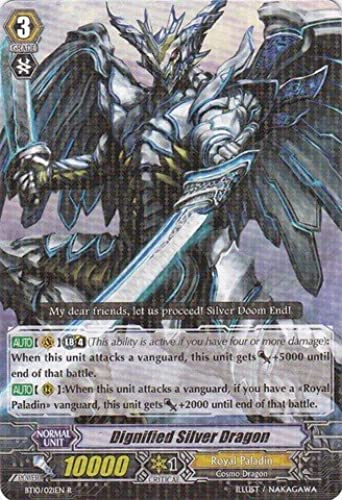 Cardfight   Vanguard TCG - Dignified Silber Dragon (MT01 002EN) - Mega Trial Deck 1  Rise to Royalty by Cardfight   Vanguard TCG