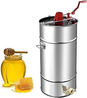 Goplus Manual 2 Frame Honey Extractor Stainless Steel Honey Separator Pro Extraction..