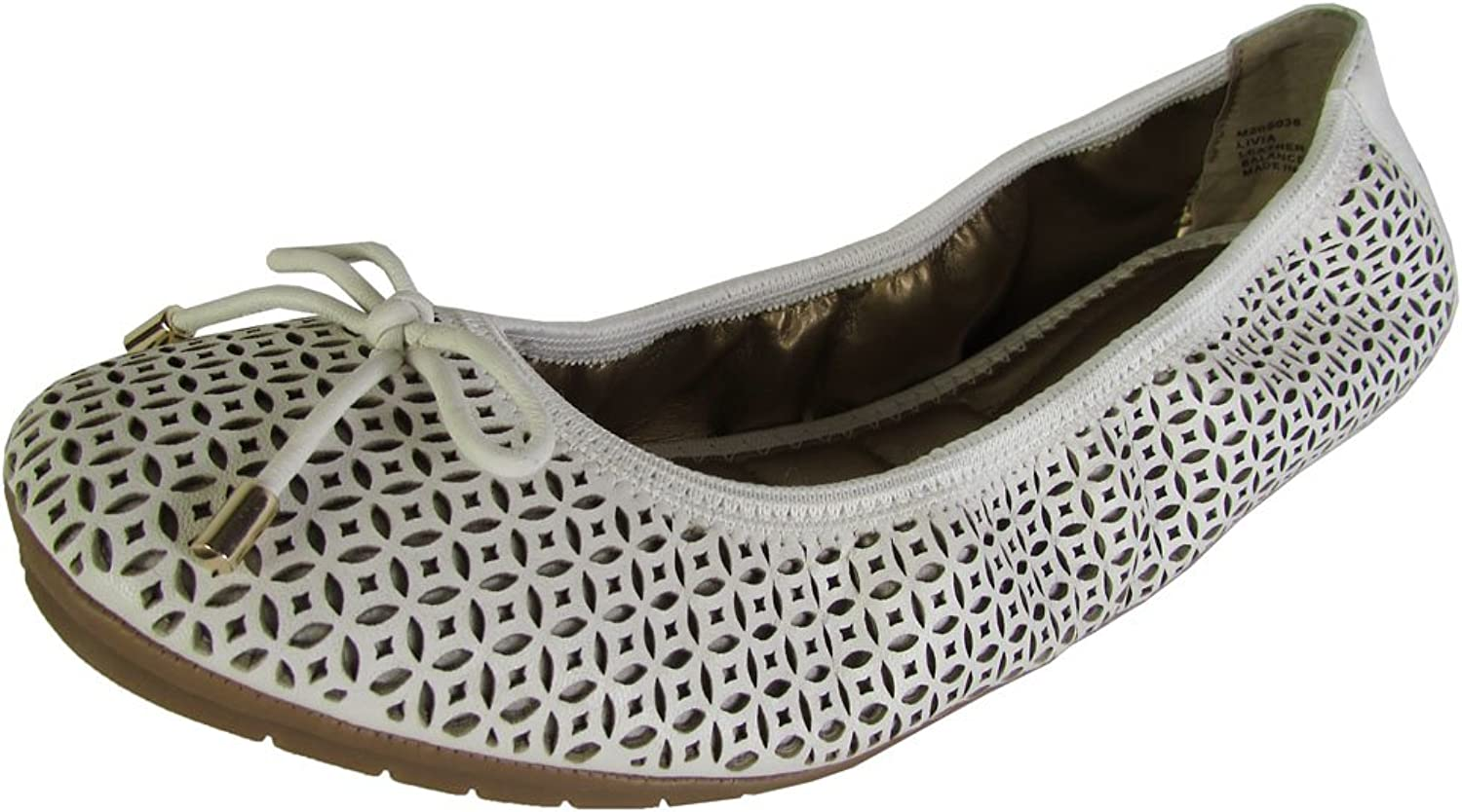 Me Too Womens Livia Leather Ballet Flat shoes