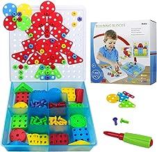 Akokie Mosaico Puzzles Infantiles Rompecabezas 96 Piezas Bricolaje Bloques Juegos de Construccion para Niños 3+ (Mosaico Puzzles)