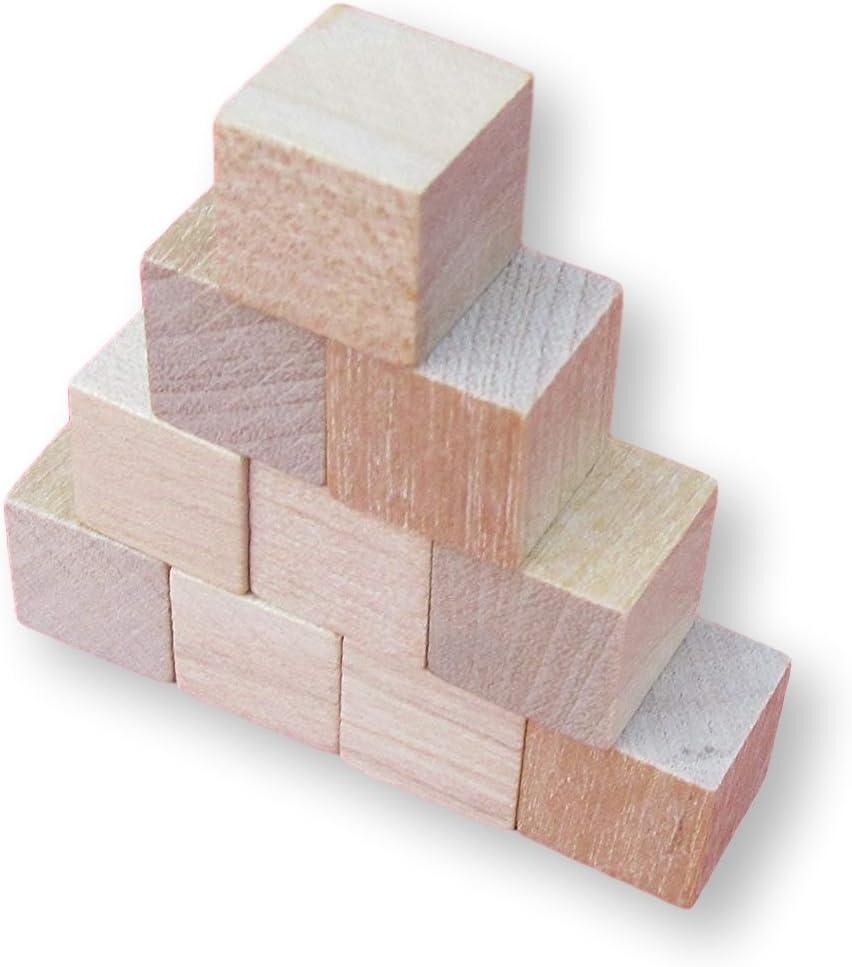 10/cubos de madera natural de manualidades de 10/mm a 75/mm madera natural 20 mm