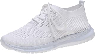 Summer Sports Shoes Flying Woven Breathable Mesh Jogging Flat Shoes Sports Leisure Comfortable Lightweight Women's Shoes