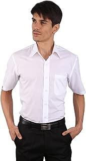 JAPs Men's White SuperFine Cotton Light Weight Shirt Short Sleeve