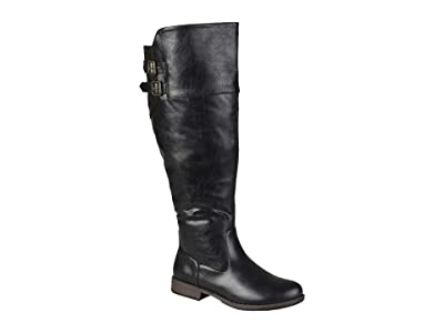 Journee Collection Tori Boot Extra Wide Calf (Black) Women