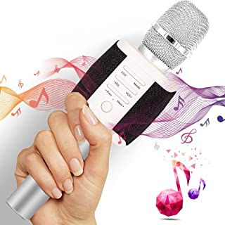 TOSING Wireless Karaoke Microphone for Kids Teenagers Family Adults, Portable Bluetooth Karaoke Machine with Speaker, Superior Stereo Sound, Birthday Party Microphone -Gift Package