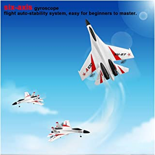 RC Channel Plane   SU-27 3CH 2.4G Radio System Remote Control High Speed Fighter Jet wiht Safe Technology   Durable EPP Foam Easy to Fly Airplane for Kids 14+ Years Old (White)