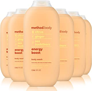 Method Body Wash, Energy Boost, 18 Ounce (6 Count)