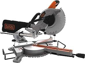 Black + Decker Be700-QS Verstekzaag, 1600 W, 5000 omw/min, diameter van het lemmet 216 mm, zaagdiepte tot 305 mm, weergave...