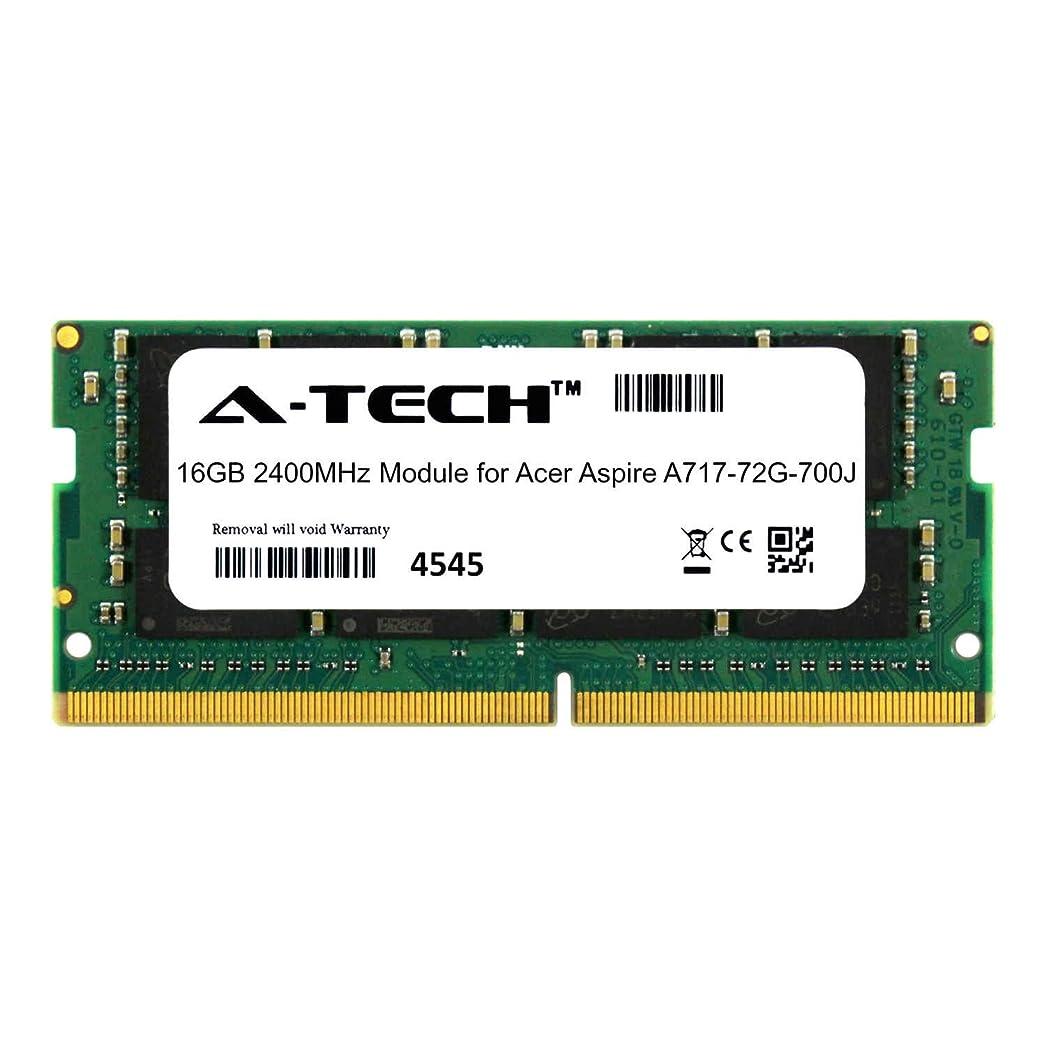 アクセス郵便炭水化物A-Tech 16GB モジュール Acer Aspire A717-72G-700J ノートパソコン&ノートブック用 DDR4 2400Mhz メモリーラム対応 (ATMS268400A25831X1)