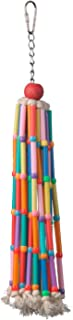"""Super Bird SB708 Colorful Cotton Rope Wind Chimes Bird Toy with Ringing Bell,  Medium Size,  13"""" x 2"""" x 2"""""""