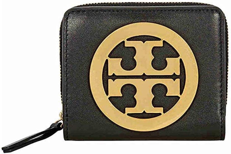 Tory Burch Charlie Mini Leather BiFold Wallet, Black
