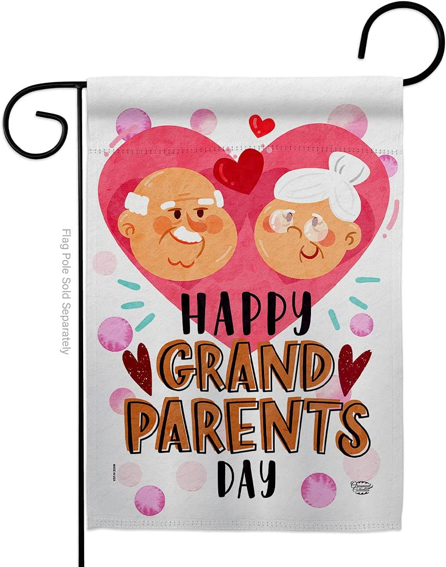 Ornament Collection Happy Day Garden Flag Family Grandma Grandpa Nana Papa Parent Sibling Relatives Grandparent House Decoration Banner Small Yard Gift Double-Sided, Made in USA