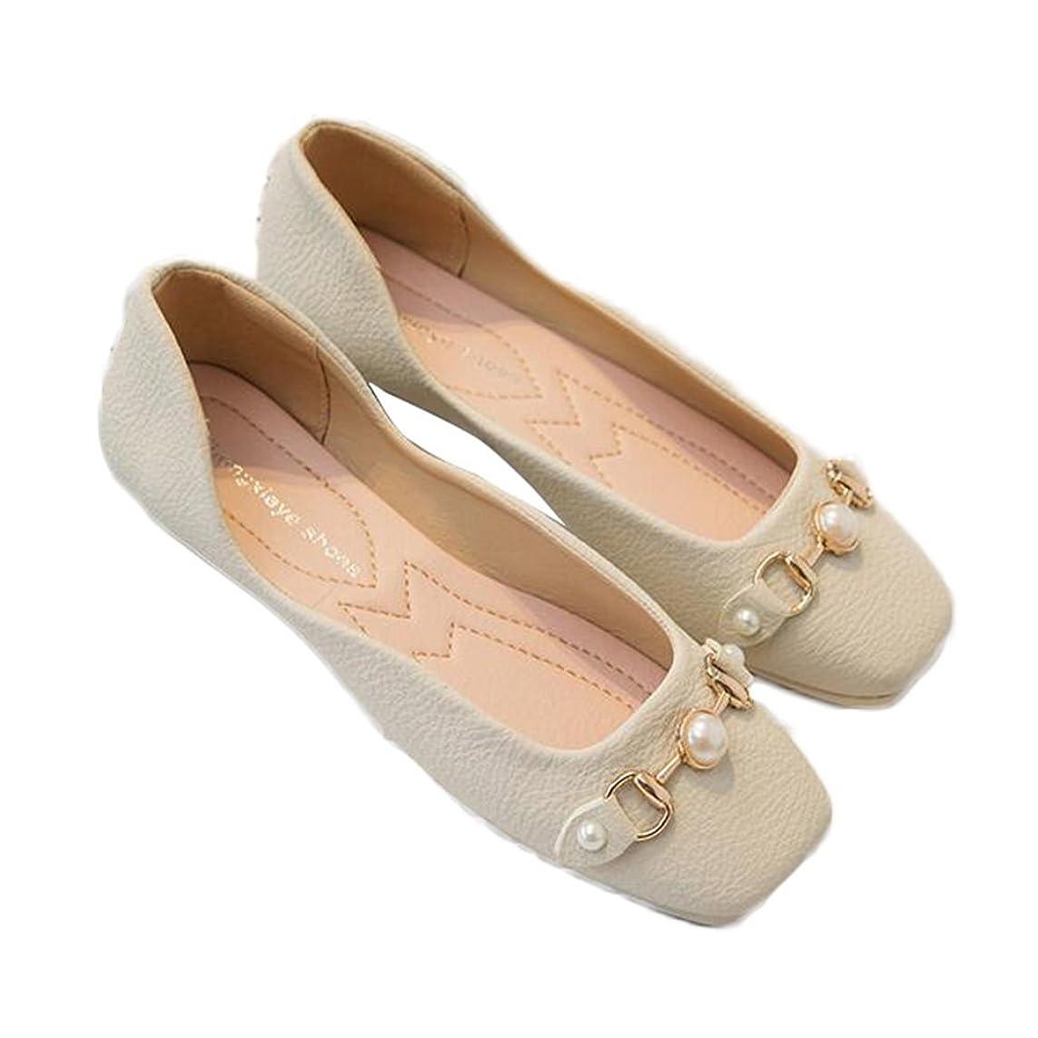 挽く政治的瞳[チェリーレッド] レディース 婦人靴 美脚 パンプス バレエシューズ ぺたんこ シンプル