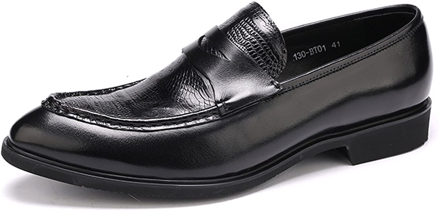 Dilize Men's Real Leather Slip-On Everyday Loafer Oxfords