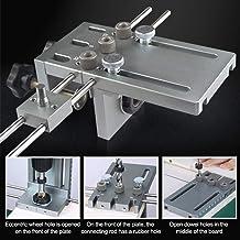 SEAAN 3 en 1 6/8/10 / 15mm Súper guía de perforación Última versión centrada en madera con precisión (varilla de posicionamiento de extensión de combinación de 600 mm)