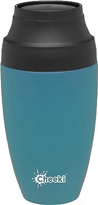 Cheeki Stainless Steel Coffee Mug, 350 ml Capacity, Topaz