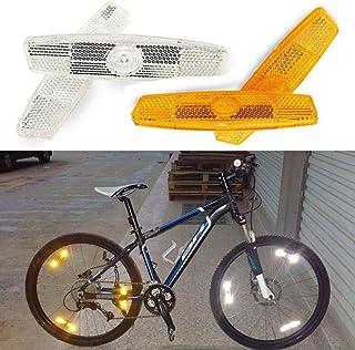 EORTA 4 Pieces Bicycle Wheel Spoke Reflector Night Safety Riding Bike Warning Light Reflector Bike Decoration Accessories ...