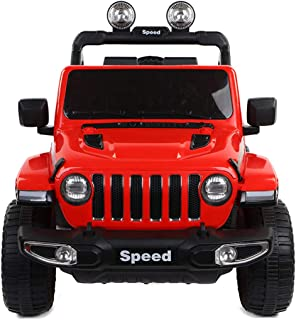 TOUNTLETS Electric Cars for Kids, 12V Powered Kids Ride On Car with 2.4 GHZ Bluetooth Remote Control, LED Lights, MP3 Player, Ride on Toy for Boys & Girls Age 3 to 6 (Red)