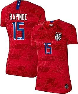 Women's Jersey Megan Rapinoe #15 2019 Women's World Cup Away Soccer Jerseys Colour Red(S-XL)