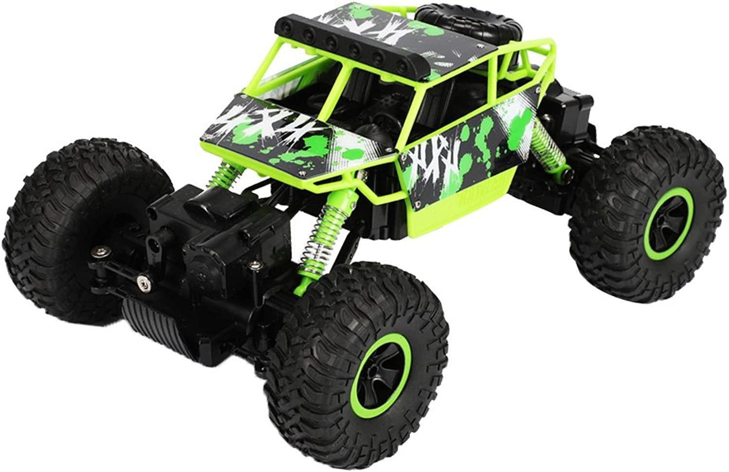 Fityle OffRoad Remote Control 1 18 2.4G 4WD Rock Crawler Radio RC Car Toy Gifts Green