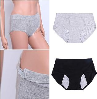 ULTNICE 4Pcs Women Menstrual Period Brief Leak Proof Menstrual Underwear Breathable High Waist Panties for Women Tweens Gi...