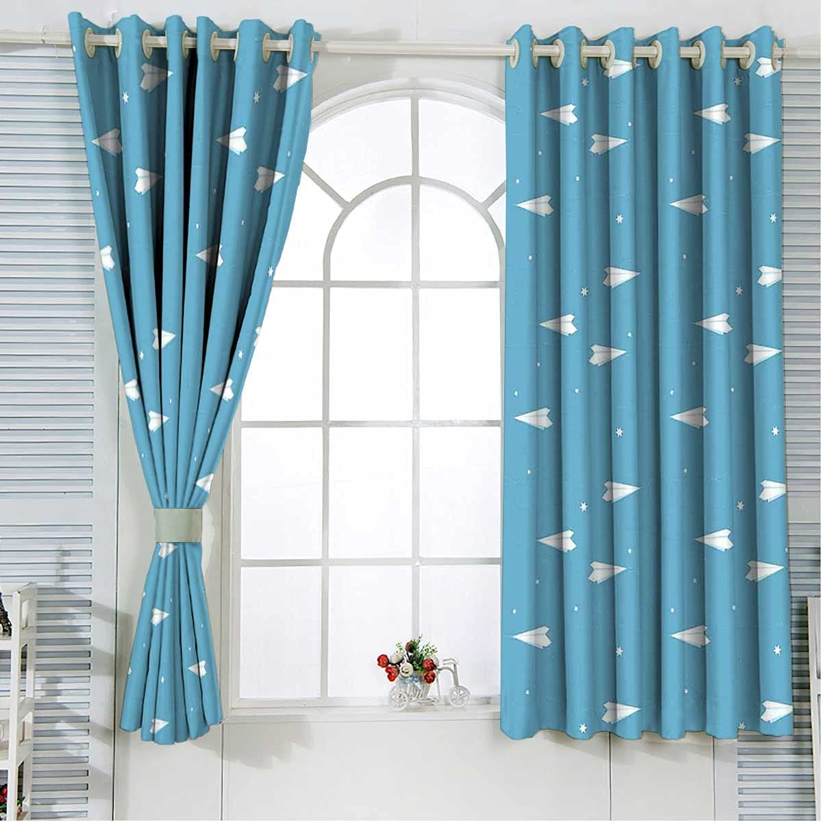 100% Blackout Curtains Max 83% OFF 108 Inch Length Hearts High order Play Kids Bla Fun