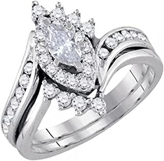 Best white gold marquise bridal set Reviews