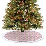 Luxus Weihnachtsbaum Rock Süße Baby Figuren mit Karomuster und Polka Dotted Herzen Weihnachtsdeko...