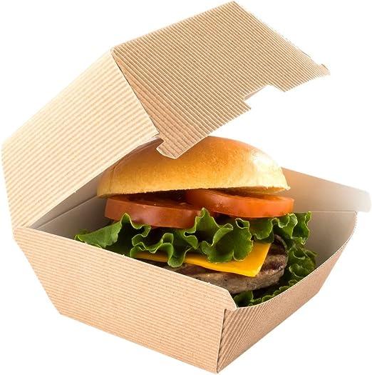 Restaurantware RWA0379K Caja de hamburguesas de papel, Fuerza: Amazon.es: Hogar
