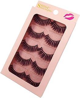 Dense 3D False Eyelashes 5pairs Faux Mink Eyelash Extention Soft and Natural G900 Series (G904)